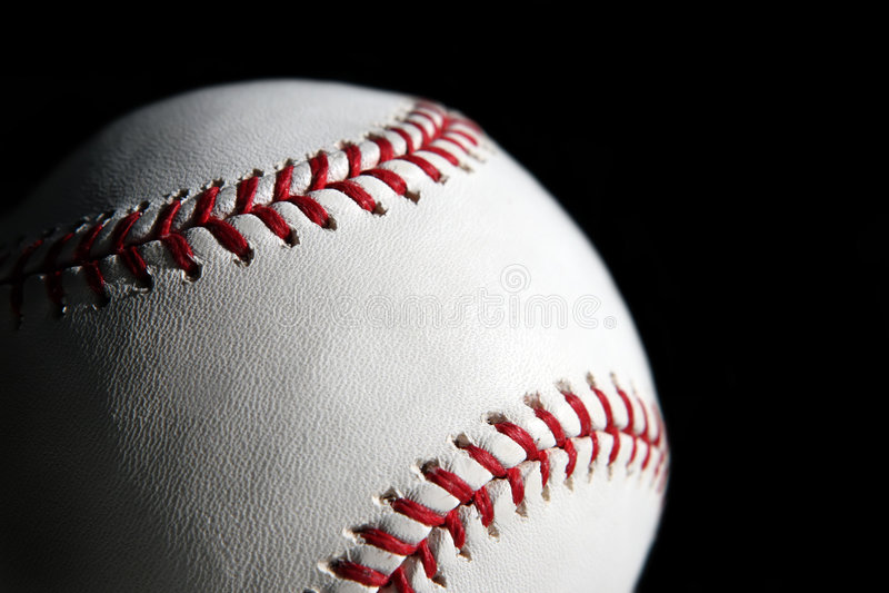 Baseball ball closeup royalty free stock photos