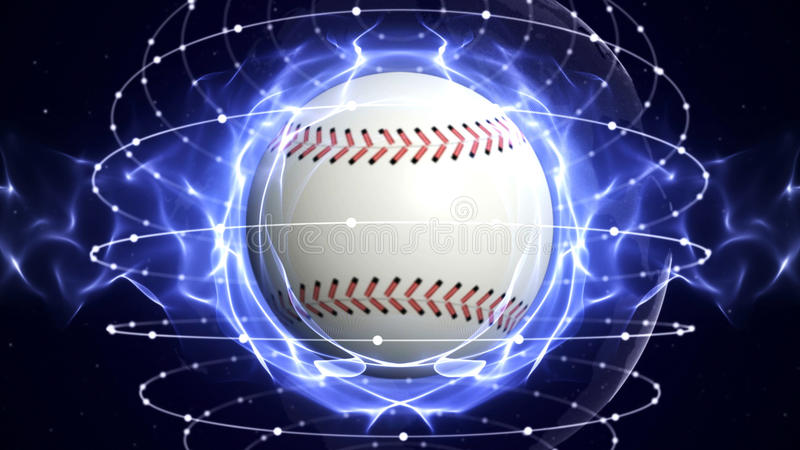 BASEBALL-BALL Computer-Animations-Hintergrund stock abbildung
