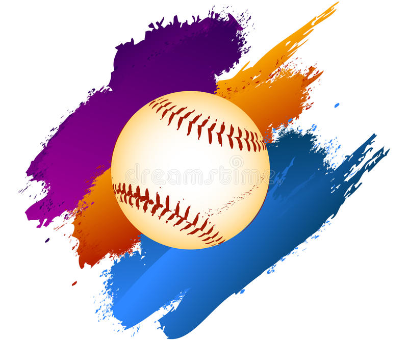 Baseball ball royalty free illustration