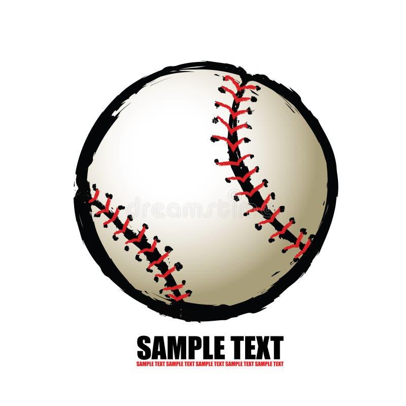Baseball ball - free hand royalty free illustration