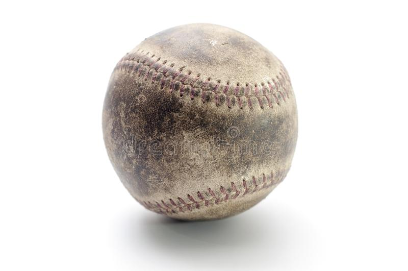 Baseball ball isolated on a white background royalty free stock photography