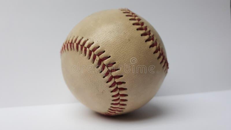 Baseball ball. Picture of white baseball ball stock photo