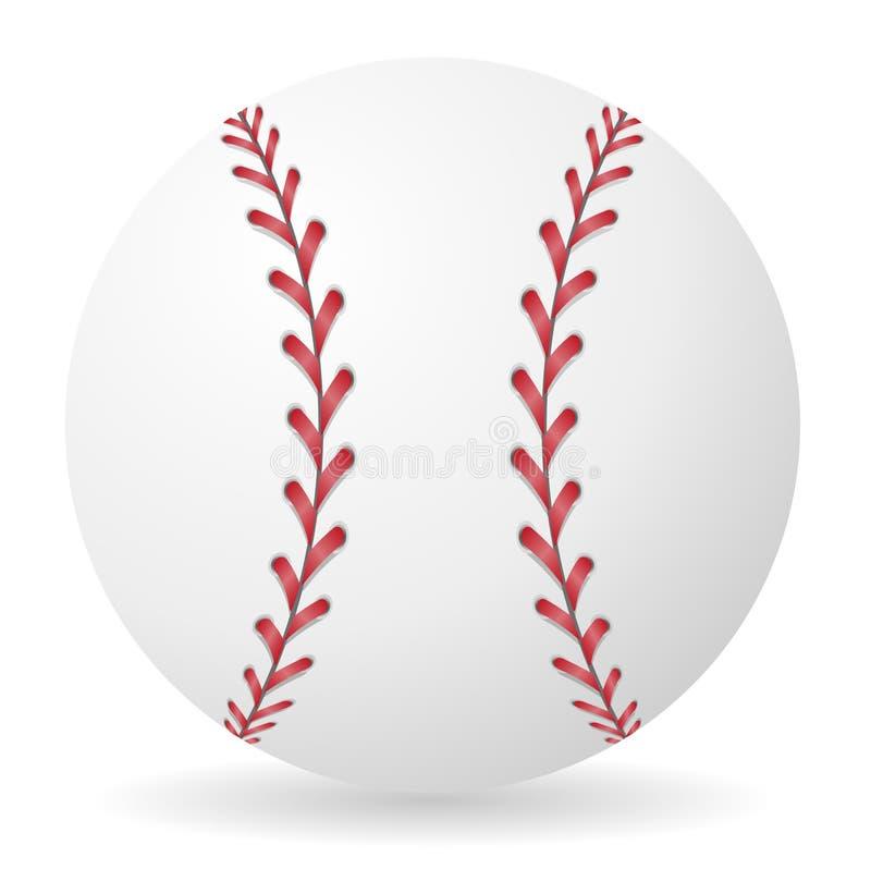Baseball balowa wektorowa ilustracja ilustracji