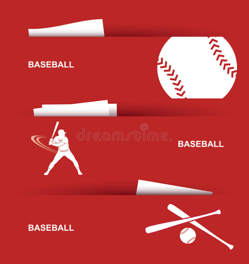 Download Baseball banners stock vector. Image of batter, recreation - 27000236