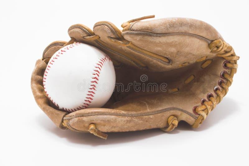 Baseball and Baseball Glove stock photography