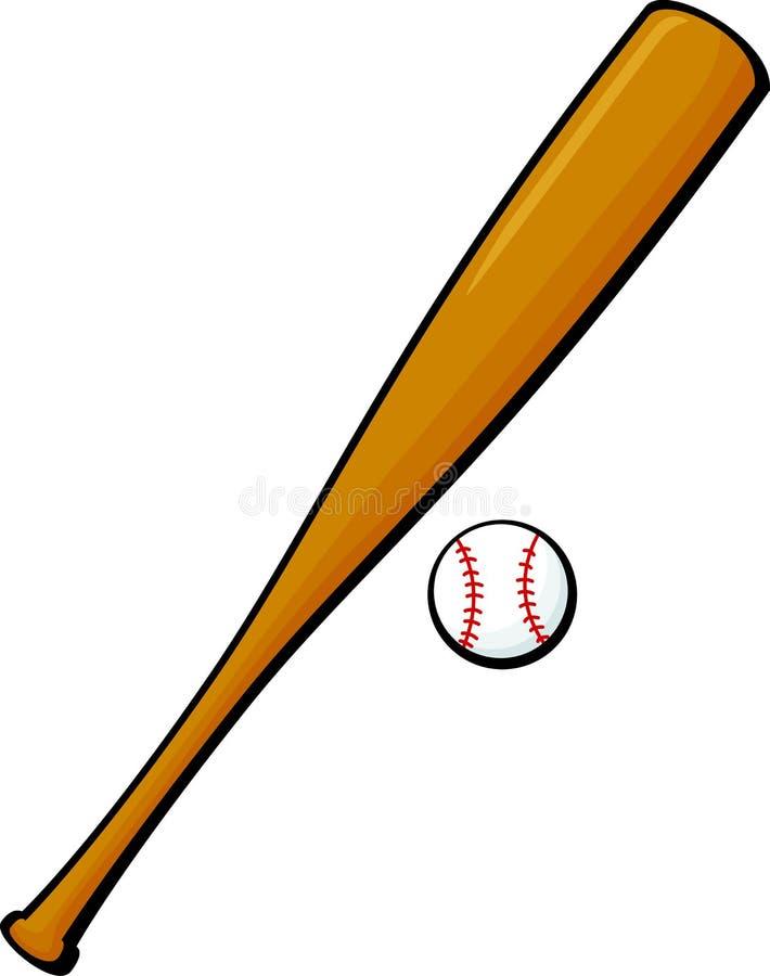 Free Baseball Bat And Ball Vector Illustration Stock Image - 13371301