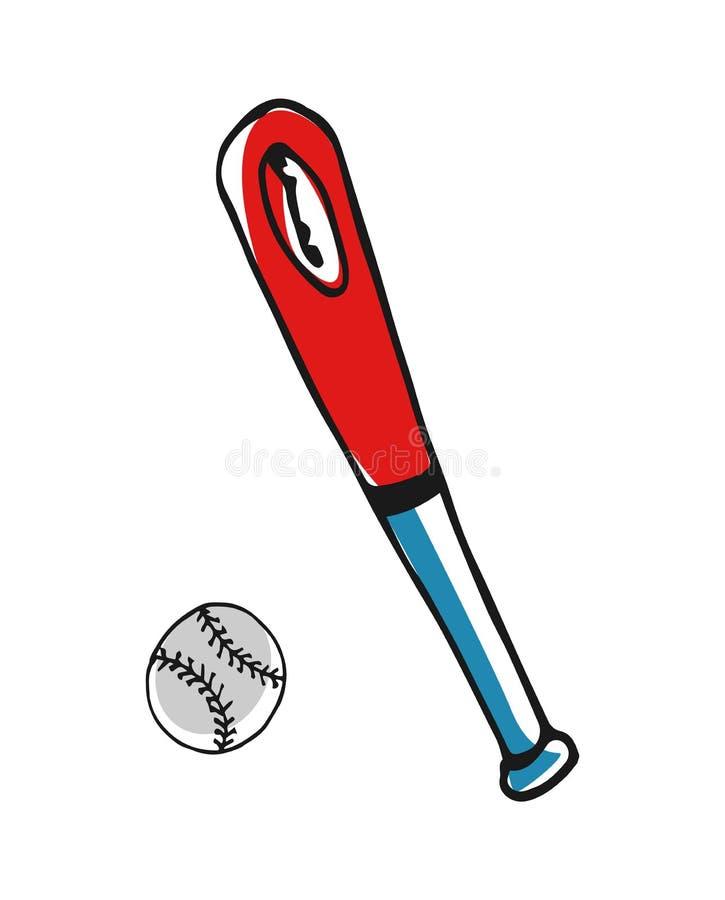 baseball bat and ball hand drawn icon stock vector illustration of rh dreamstime com Baseball Bat Vector Silhouette Baseball Bat Clip Art