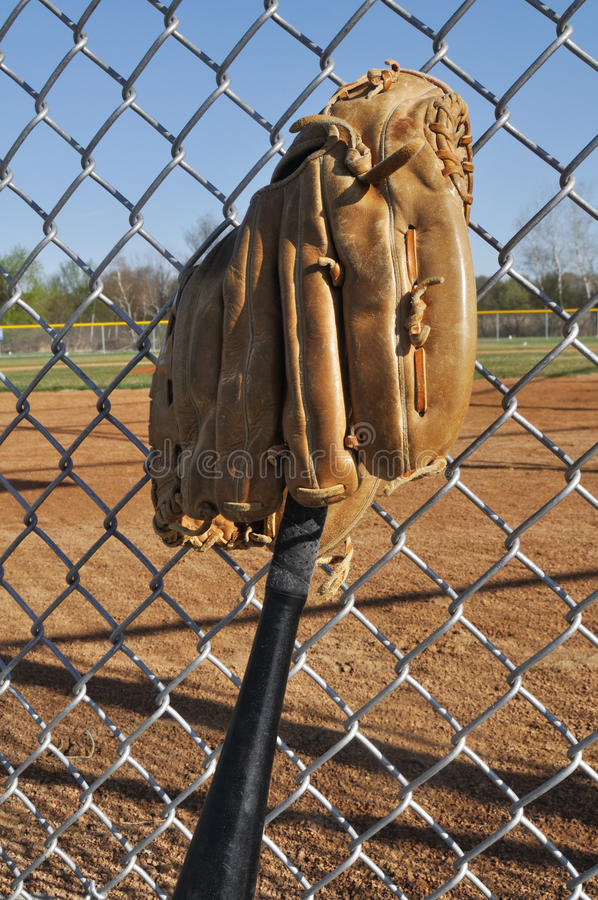 Download Baseball Bat and Glove stock photo. Image of ballpark - 15836322