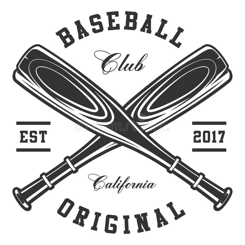 Baseball bats. On white background. Text is on the separate layer royalty free illustration