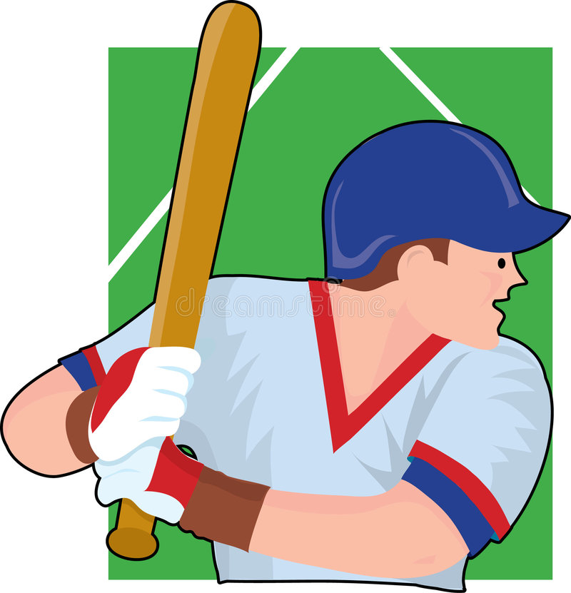Baseball Batter. Baseball player getting ready to bat vector illustration