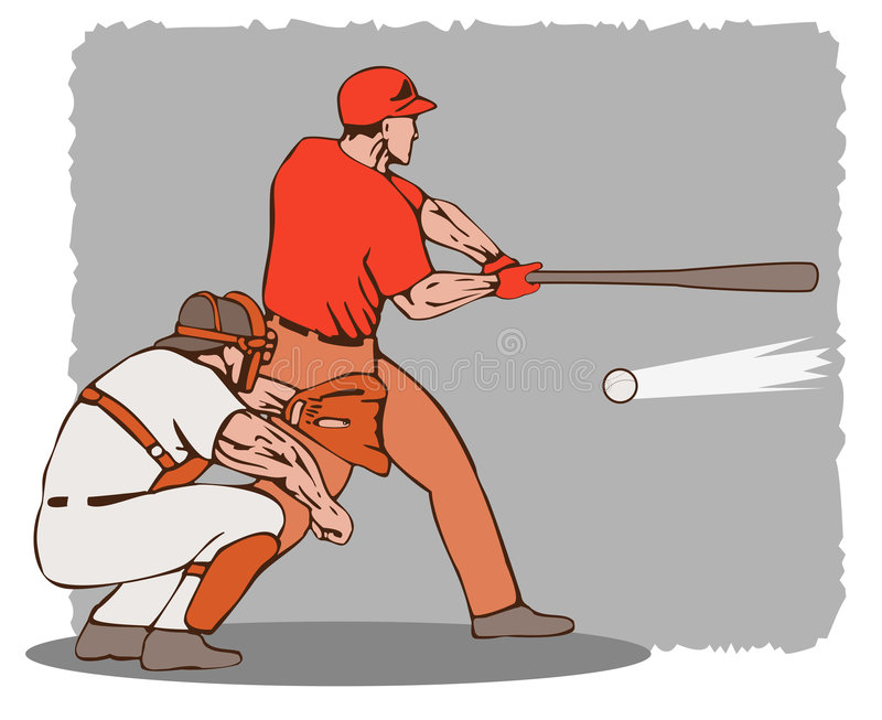 Download Baseball Batter And Catcher Royalty Free Stock Image - Image: 2611406