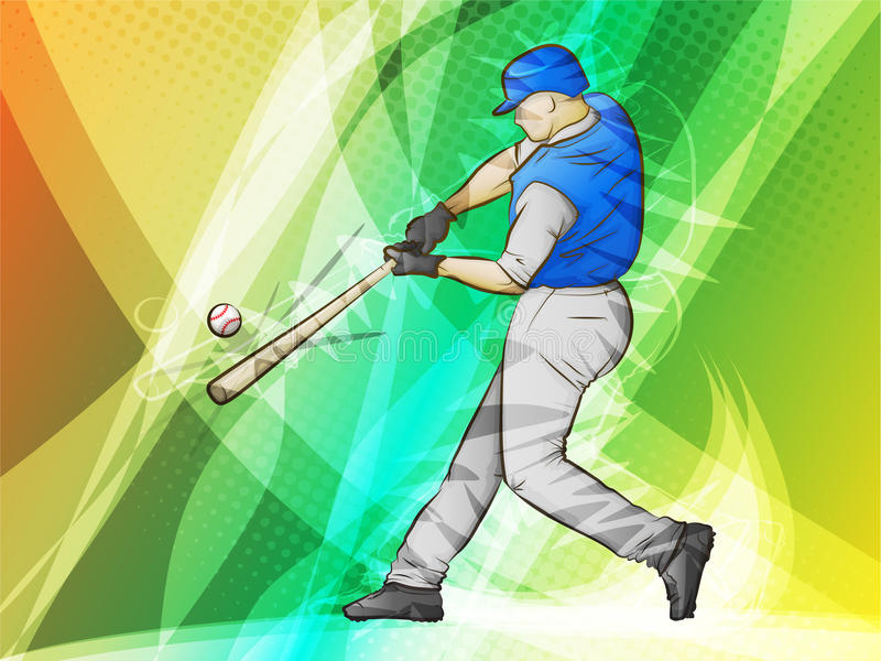 Download Baseball batter hit stock vector. Image of fast, ball - 22468734