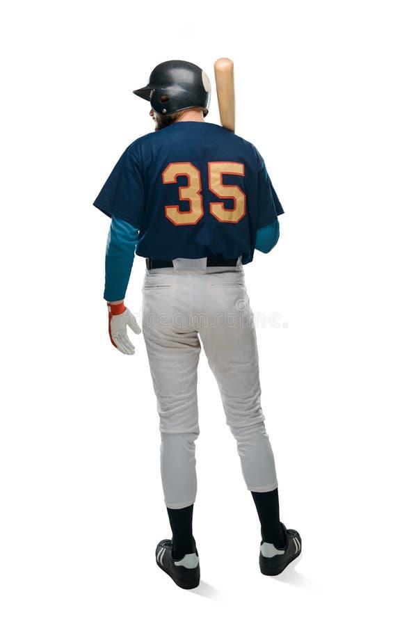 Baseball batter on white background stock images