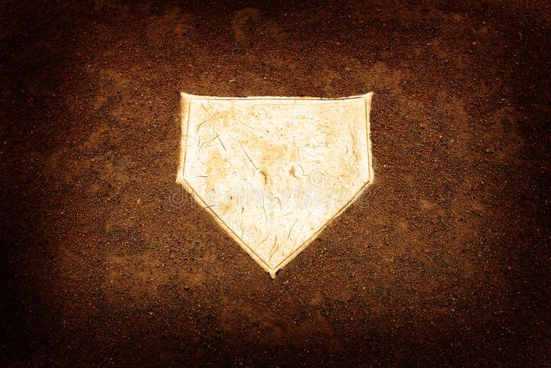 Baseball bazy domowej bazy Homeplate sportów Balowa Amerykańska rywalizacja zdjęcie royalty free