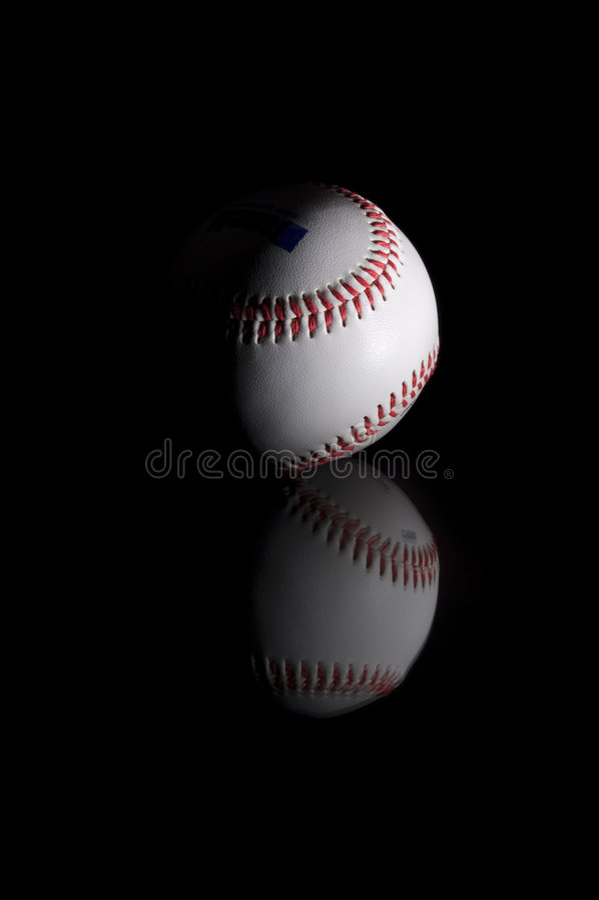 Baseball on Black stock photos