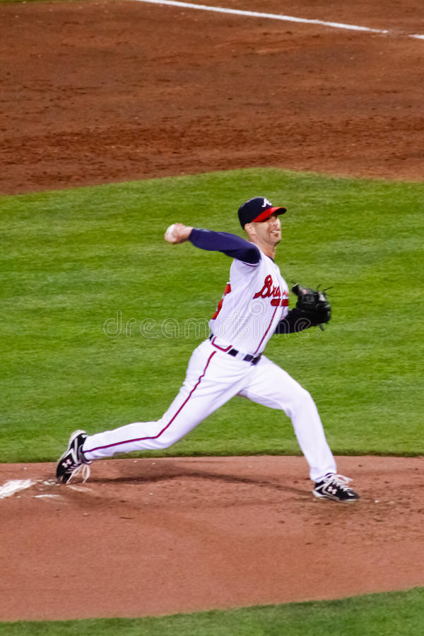 Baseball - Braves Miotacz Tim Hudson obraz stock