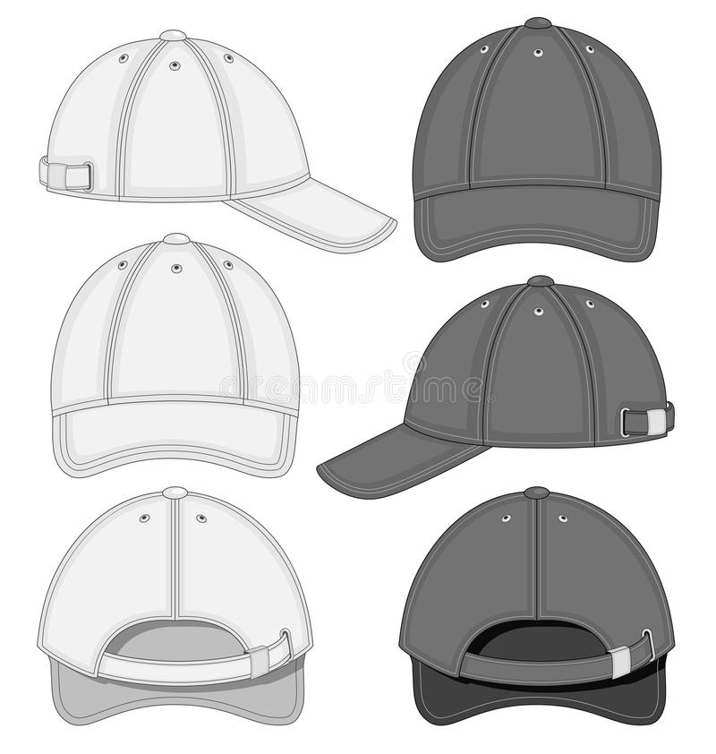 Download Baseball cap stock vector. Illustration of head, black - 37557051
