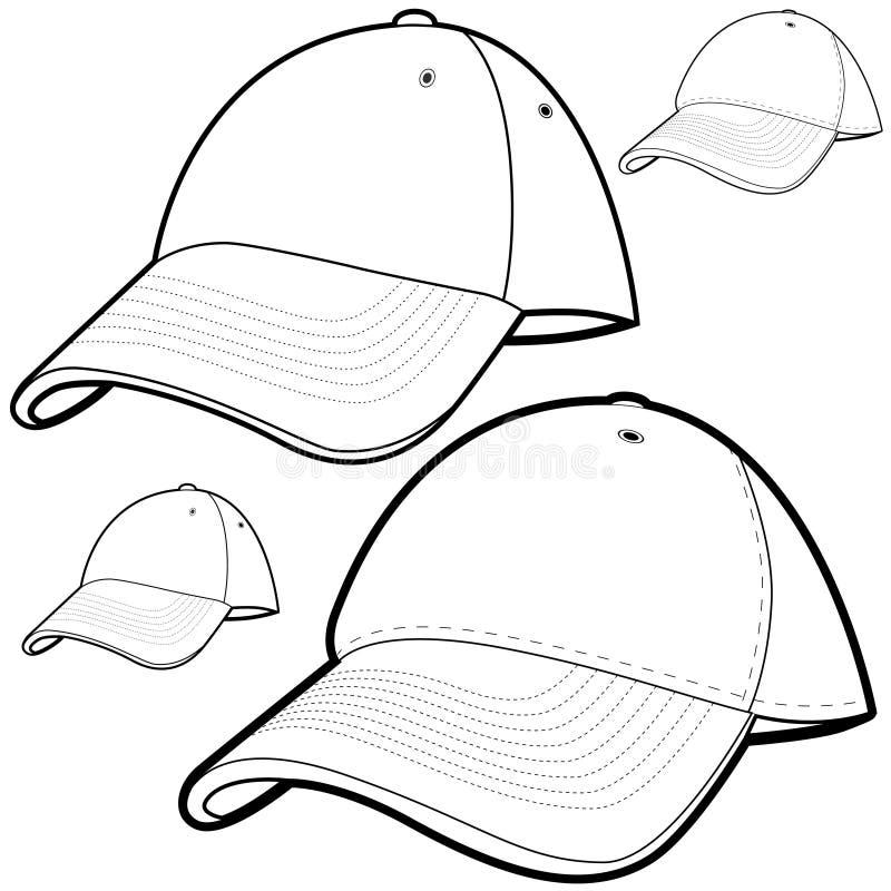 Download Baseball Cap Set stock vector. Illustration of clipart - 12764863