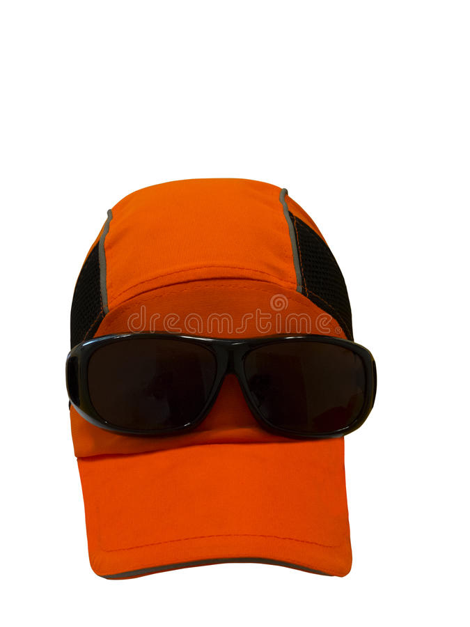 Baseball cap with sunglasses. royalty free stock photos