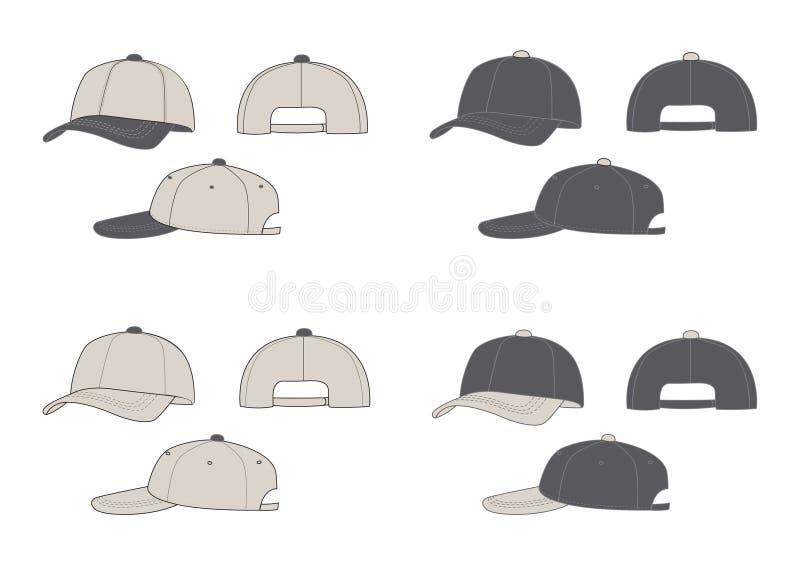 Baseball caps royalty free illustration