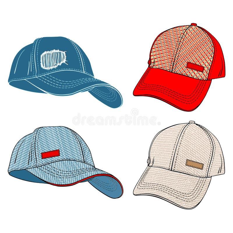 Baseball Caps vector illustration