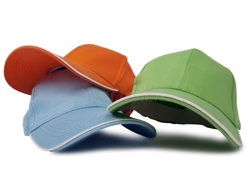 Download Baseball caps stock photo. Image of orange, activity - 28992698
