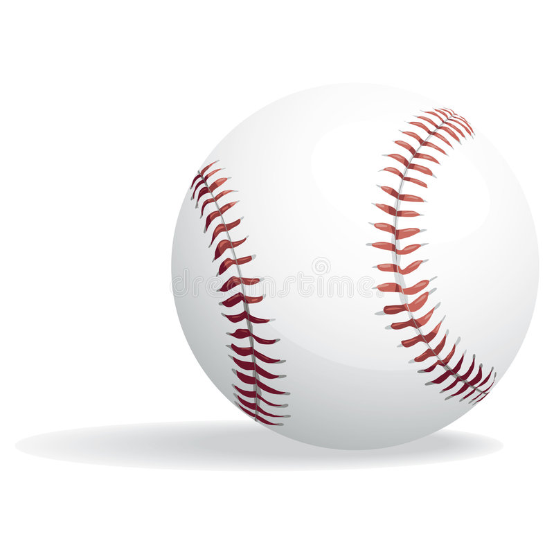Baseball and clipping path. Illustration with clipping path royalty free illustration