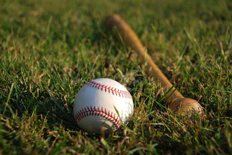 Baseball con il blocco fotografia stock