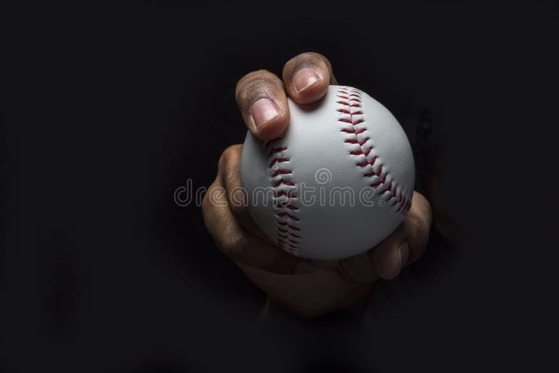 Baseball Curveball-Griff lizenzfreie stockbilder
