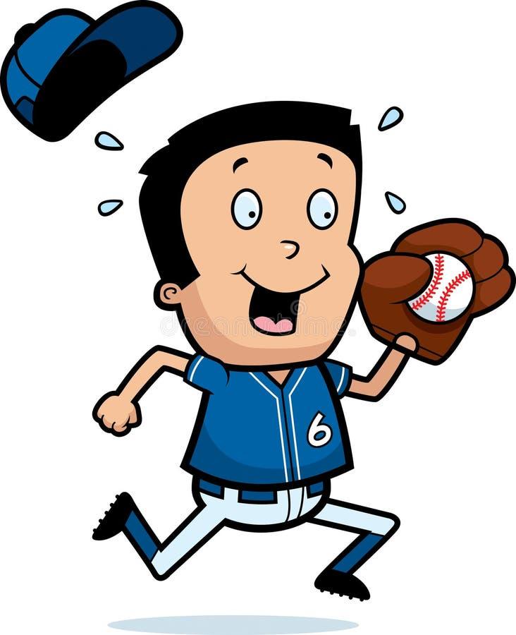 Baseball del ragazzo del fumetto illustrazione di stock