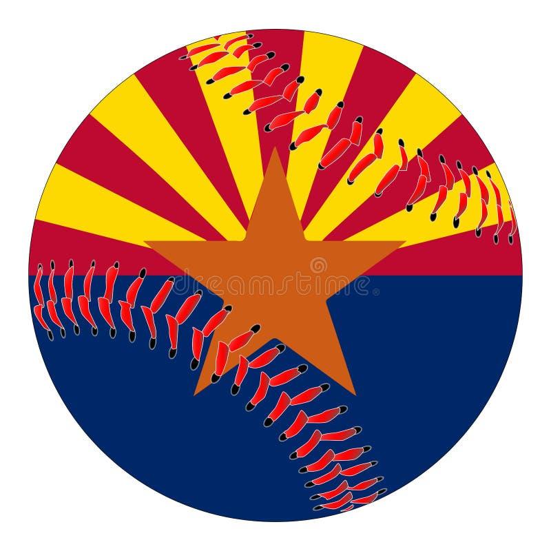 Baseball della bandiera dell'Arizona illustrazione di stock