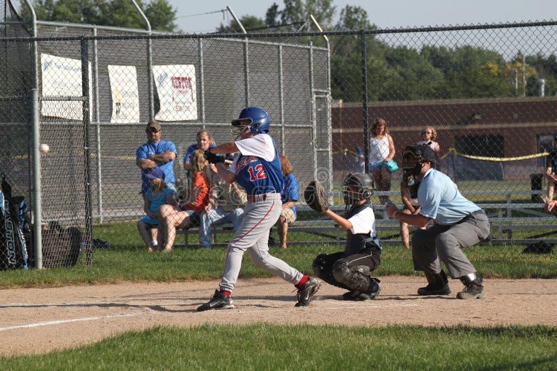 Baseball della piccola lega fotografie stock libere da diritti