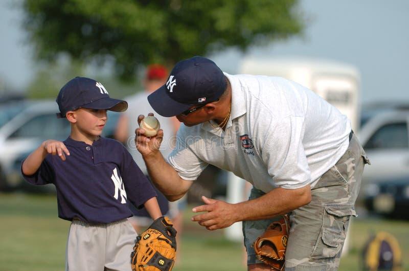 Baseball della piccola lega fotografia stock