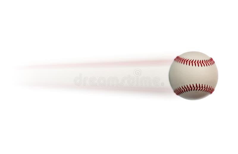 Baseball in der Bewegung lizenzfreie stockfotografie