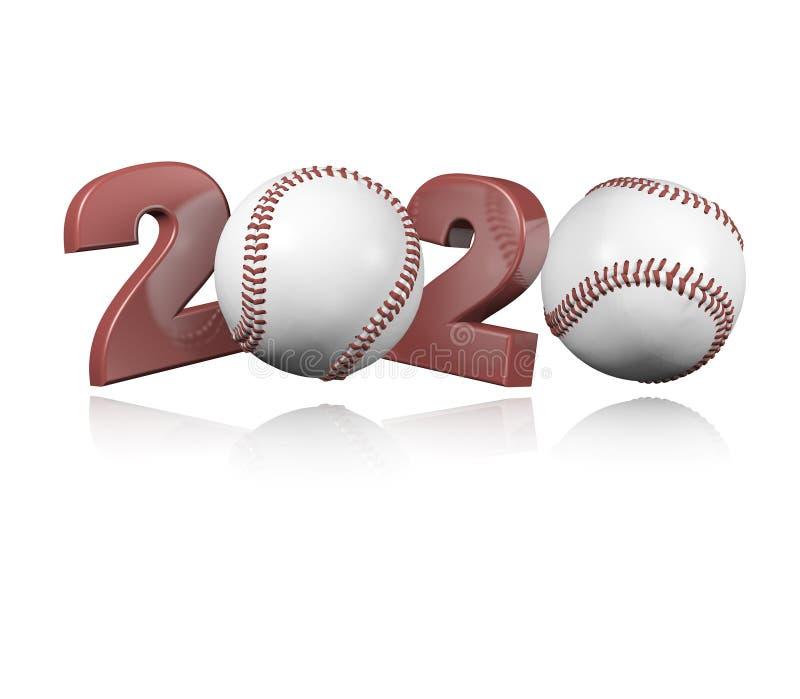 Baseball 2020 Design royalty free illustration