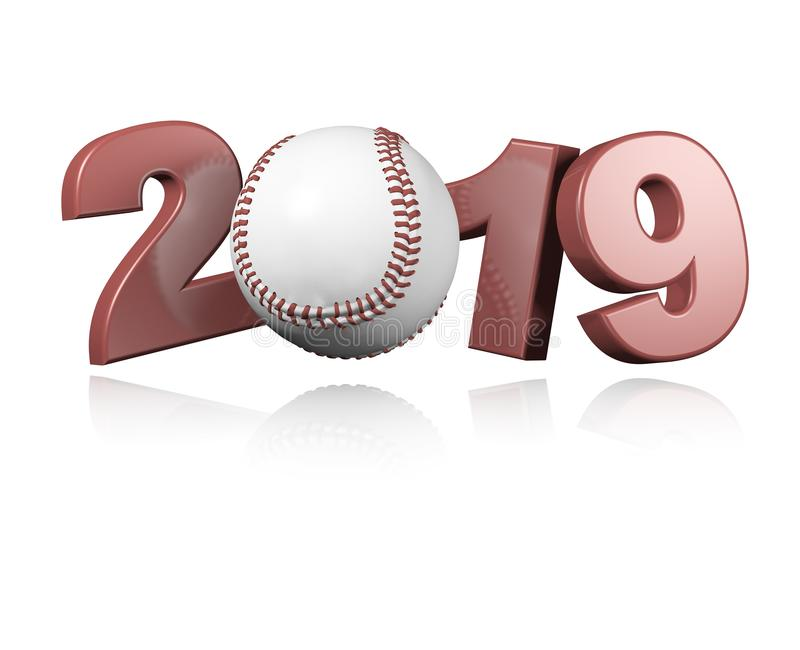 Baseball 2019 Design vector illustration