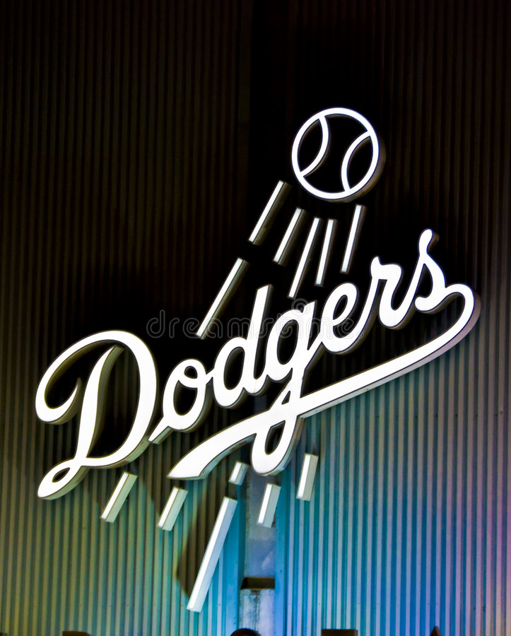 Baseball di Los Angeles immagine stock