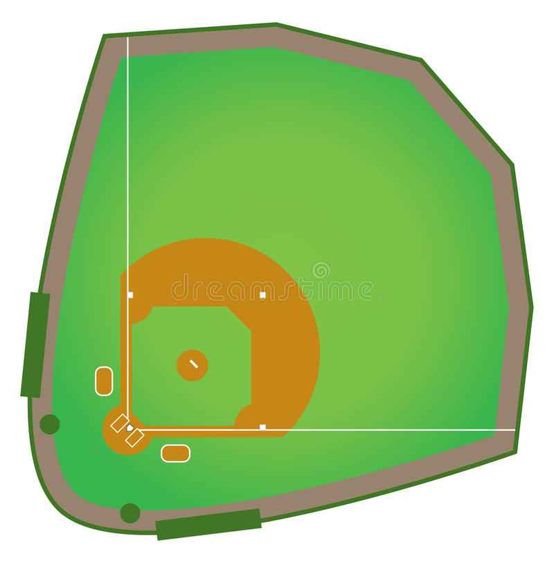 Baseball Diamond vector illustration