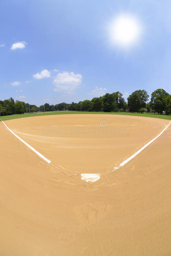 Free Baseball Diamond On A Sunny Day Royalty Free Stock Photography - 26038937