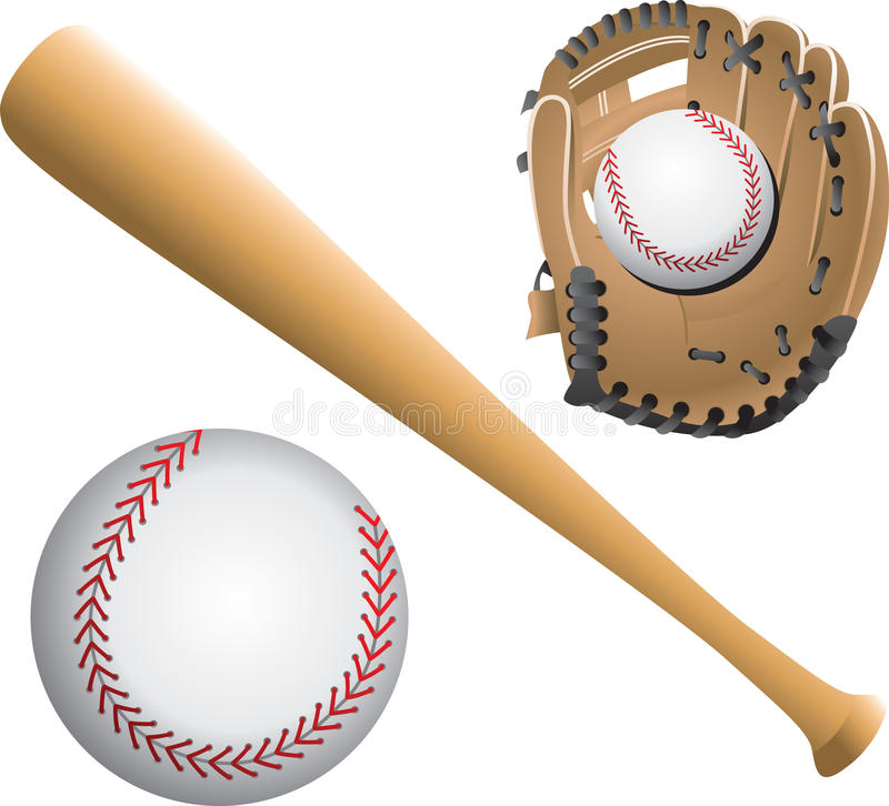Free Baseball Diamonds, Balls, And Bats Stock Photography - 20114812
