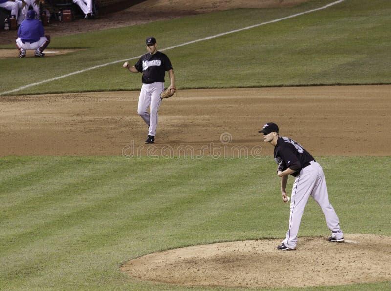Baseball - Dostaje Znaka MLB Miotacz fotografia royalty free