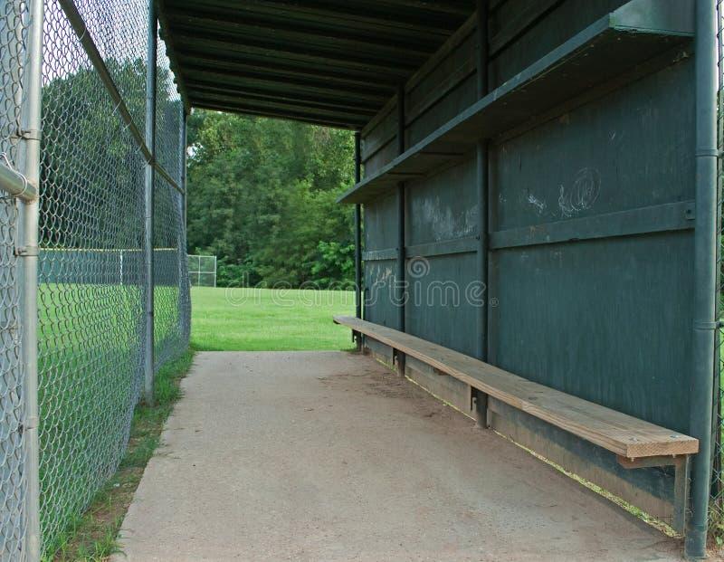 Baseball dugout royalty free stock photos