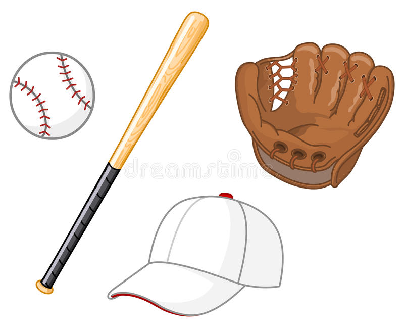 Baseball elements royalty free stock images