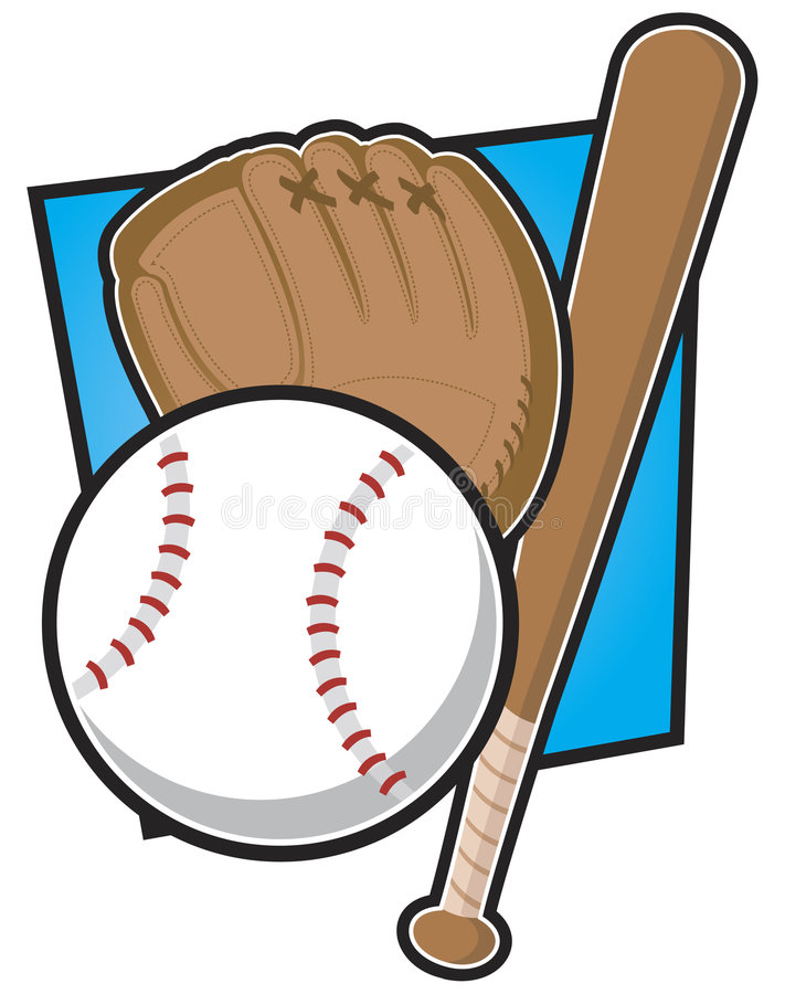 Baseball Equipment royalty free illustration