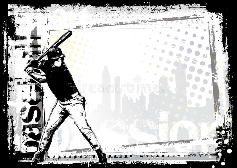 baseball för 7 bakgrund stock illustrationer