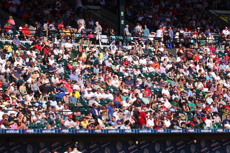 Baseball fans stock images