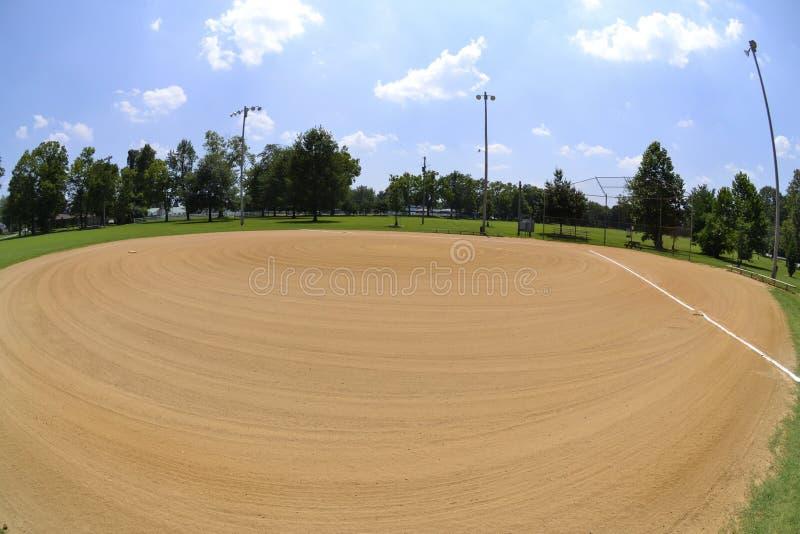 Baseball-Feld in der Sommerzeit stockfotografie