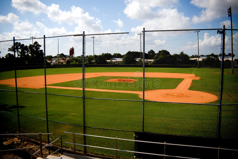 Baseball-Feld leer stockfotos