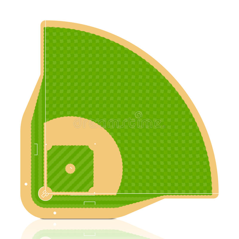Download Baseball field stock vector. Image of field, foul, double - 13599308