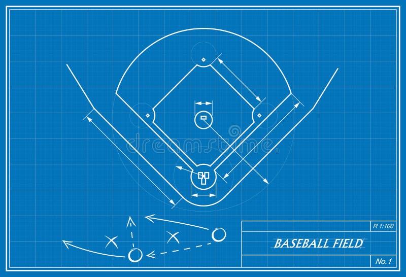 Baseball field on blueprint stock illustration illustration of download baseball field on blueprint stock illustration illustration of playing outdoors 44943637 malvernweather Gallery